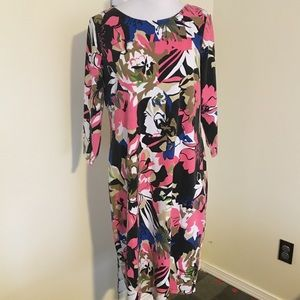 Peter Nygard Abstract Floral Dress Large